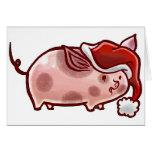 Cerdo lindo del día de fiesta felicitaciones