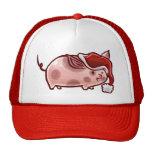 Cerdo lindo del día de fiesta gorra