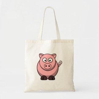 Cerdo lindo del dibujo animado bolsas de mano