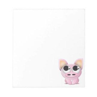 Cerdo lindo del dibujo animado libretas para notas