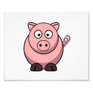 Cerdo lindo del dibujo animado fotografia