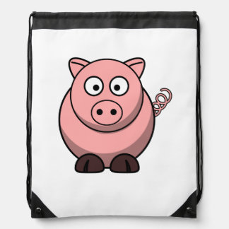 Cerdo lindo del dibujo animado mochila