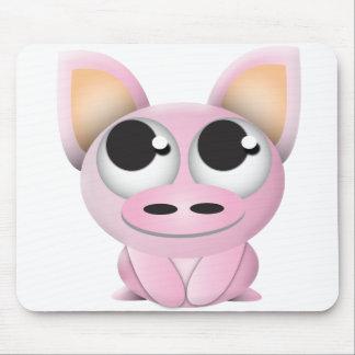 Cerdo lindo del dibujo animado alfombrilla de ratones