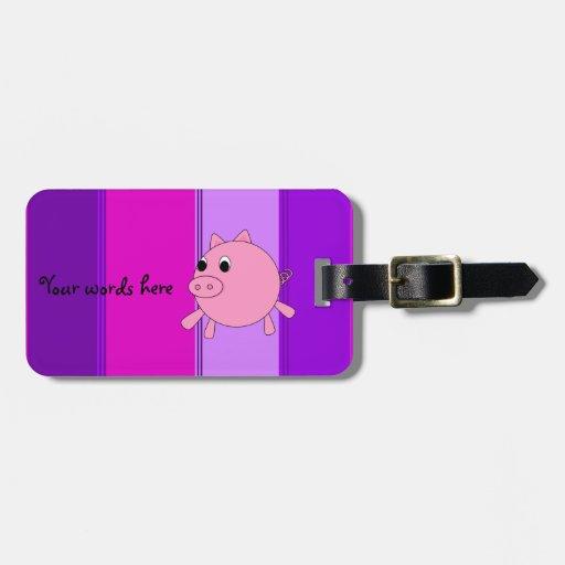 Cerdo lindo etiquetas de maletas