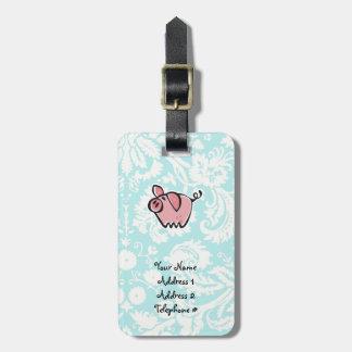 Cerdo; Lindo Etiquetas Para Maletas