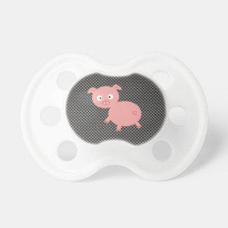 Cerdo lindo; Falsa fibra de carbono Chupete De Bebe