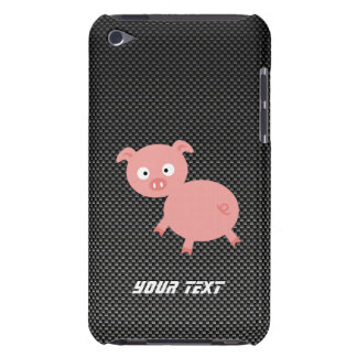 Cerdo lindo; Falsa fibra de carbono iPod Case-Mate Carcasa