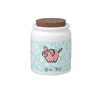 Cerdo Lindo Jarra Para Caramelo