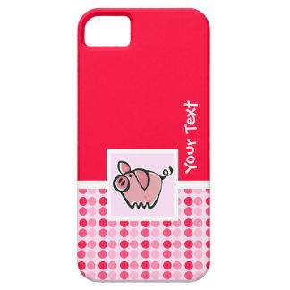 Cerdo lindo iPhone 5 cárcasas