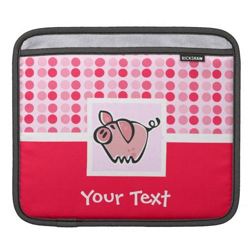 Cerdo lindo fundas para iPads