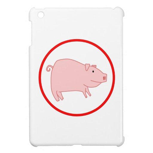 Cerdo lindo iPad mini cárcasas