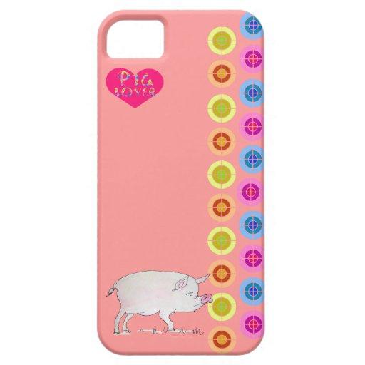 cerdo lindo iPhone 5 carcasa