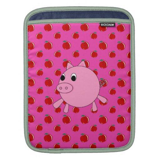 Cerdo lindo mangas de iPad