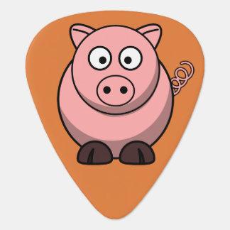 Cerdo lindo uñeta de guitarra