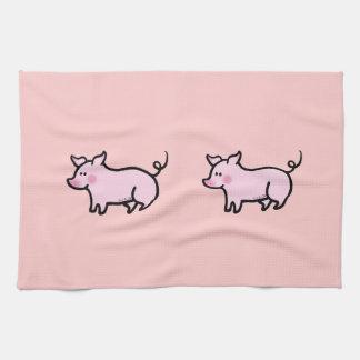 Cerdo lindo toalla de cocina