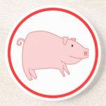 Cerdo lindo posavasos para bebidas