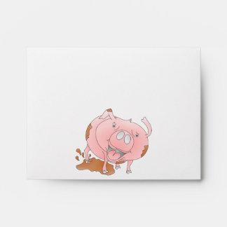 Cerdo lindo que reduce fango radicalmente sobres