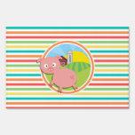 Cerdo lindo; Rayas brillantes del arco iris