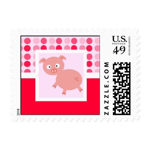 Cerdo lindo sellos