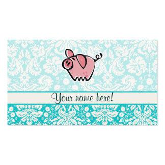 Cerdo; Lindo Tarjeta De Visita