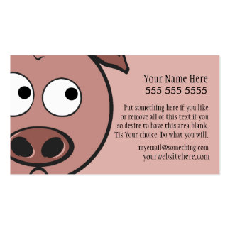Cerdo lindo tarjeta personal