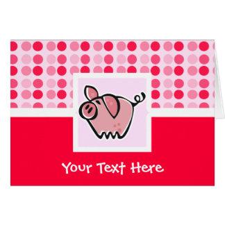 Cerdo lindo tarjeta de felicitación