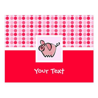 Cerdo lindo tarjetas postales