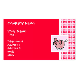 Cerdo lindo tarjetas de visita