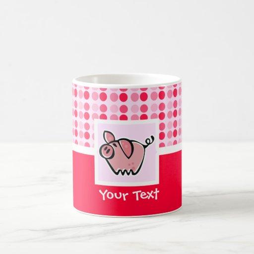 Cerdo lindo taza básica blanca
