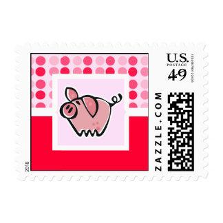 Cerdo lindo timbres postales