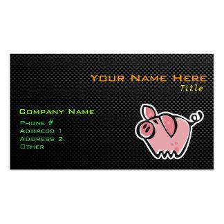 Cerdo liso tarjetas de visita