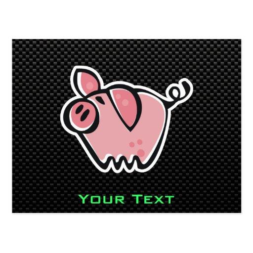 Cerdo liso tarjetas postales