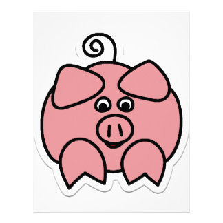 cerdo membrete a diseño