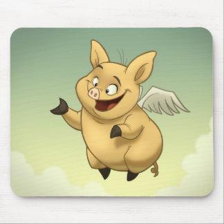 Cerdo Mousepad del vuelo Alfombrillas De Raton