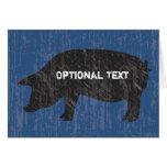 Cerdo negro rústico tarjeta
