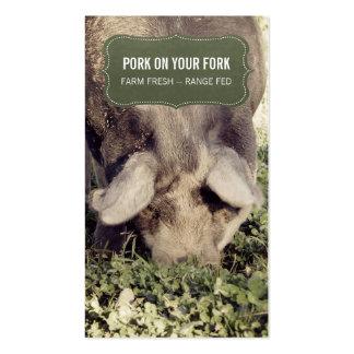 Cerdo o cerdo de la gama del productor del cerdo tarjetas de visita
