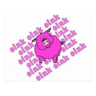 Cerdo Oink Postales
