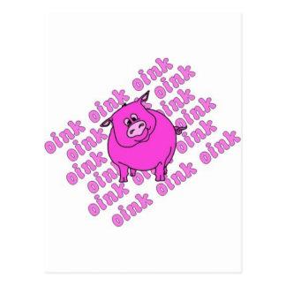 Cerdo Oink Tarjetas Postales