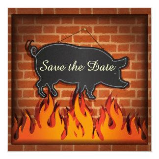 ¡Cerdo Pickin del Cookout del Bbq! Invitaciones Personalizada