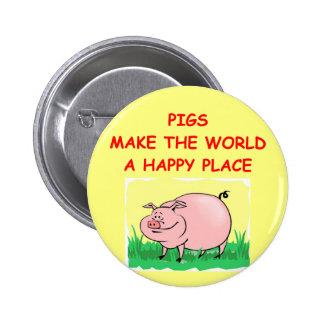 cerdo pin redondo de 2 pulgadas