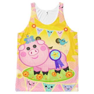 Cerdo premiado lindo por todo el tanque unisex