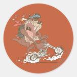 Cerdo pulido de TAZ™ Pegatina Redonda
