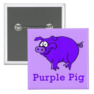 Cerdo púrpura en la ropa, tazas, camisetas del beb pins