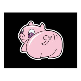 cerdo que menea la cola postales