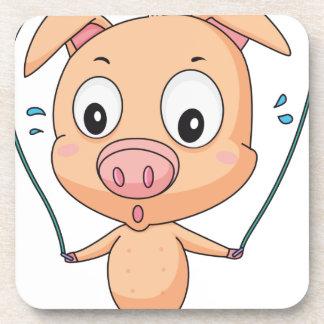Cerdo que salta posavasos