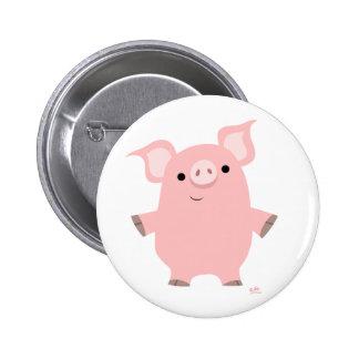 Cerdo que se levanta el botón pin redondo de 2 pulgadas