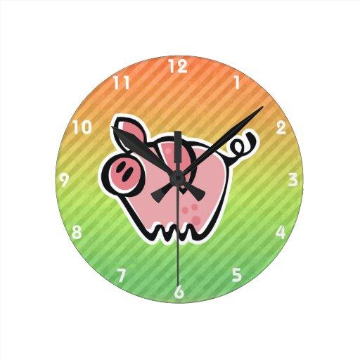 Cerdo Relojes De Pared