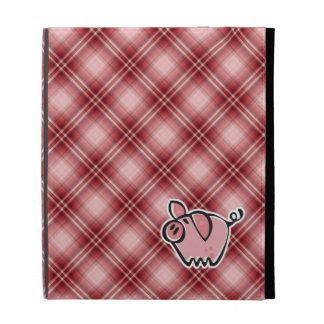 Cerdo rojo de la tela escocesa