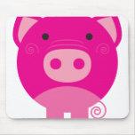 Cerdo rosado alfombrilla de raton