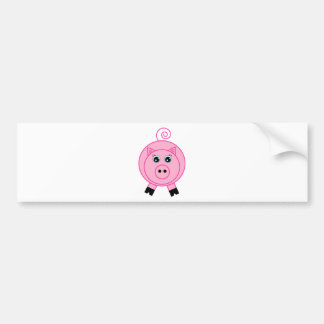 Cerdo rosado pegatina de parachoque
